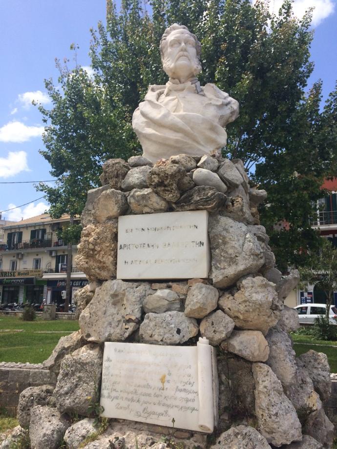 Aristotle Valaoritis statue