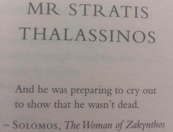 Dionysios Solomos introducing a George Seferis chapter