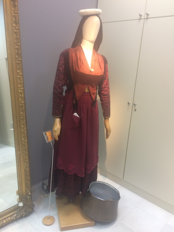 A traditional ladies festive costume