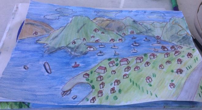 Vliho bay watercolour