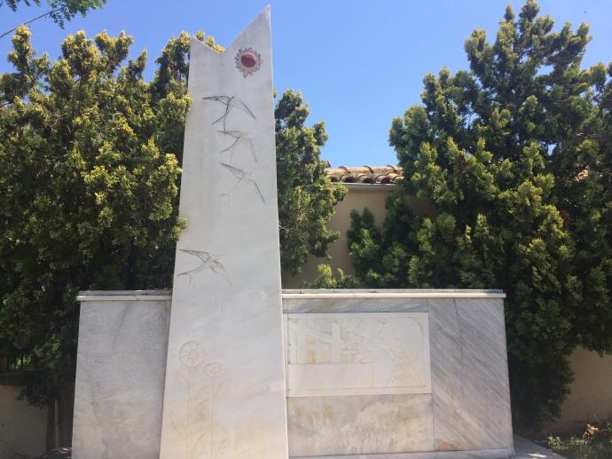 Aristotle Valaoritis tomb, Lefkás Town
