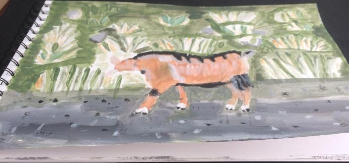A mountain goat I walked acrylic paint