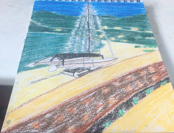 Vasiliki pastel on watercolour paper