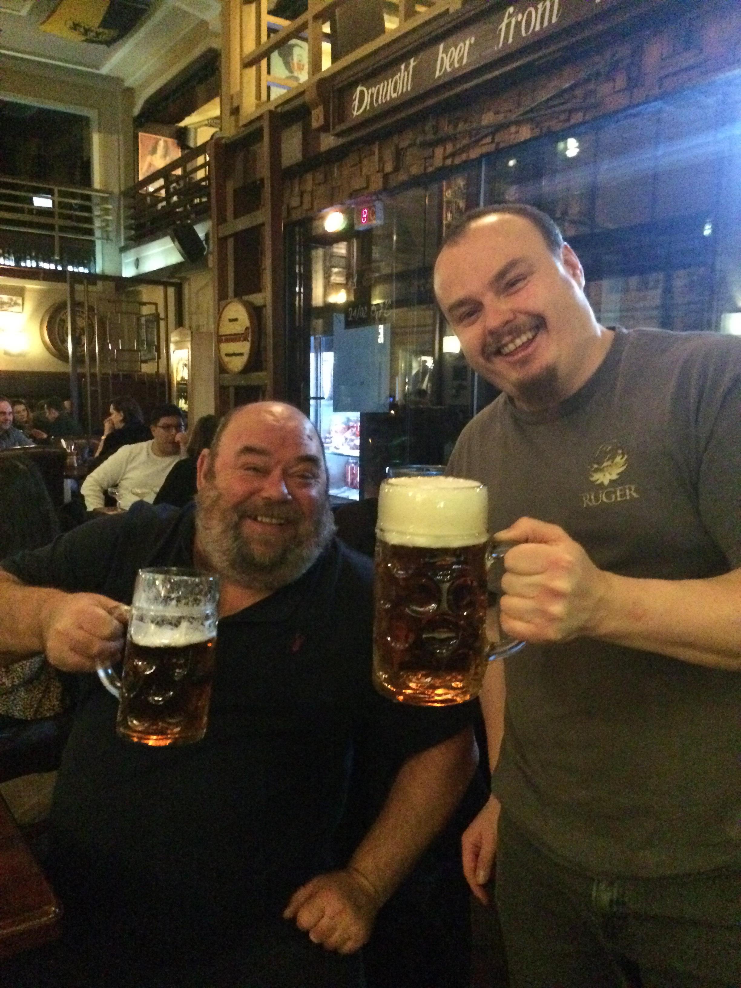 Huge beer glasses
