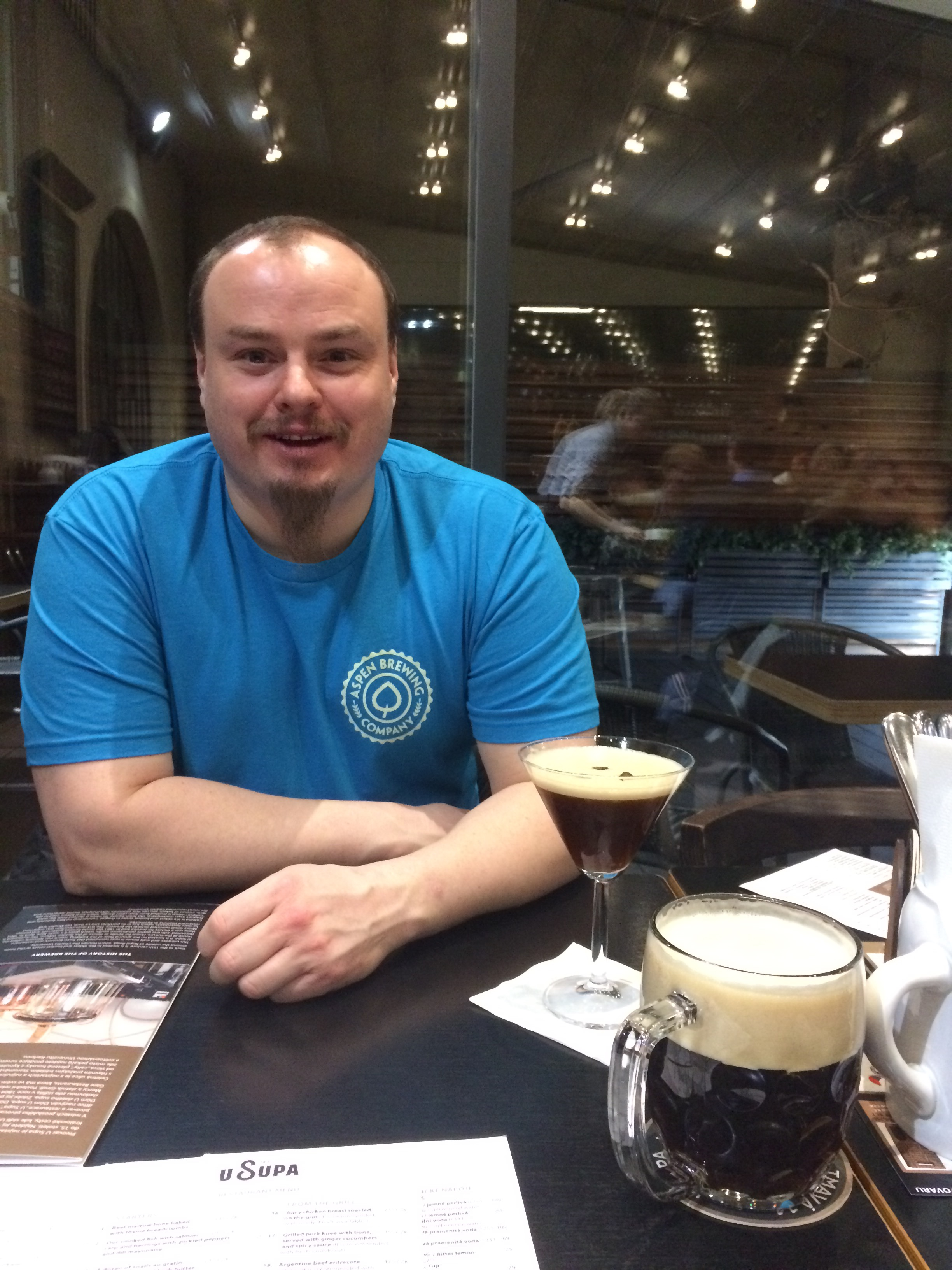 Beer and espresso martini