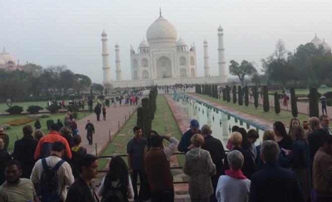 Taj Mahal after sunrise