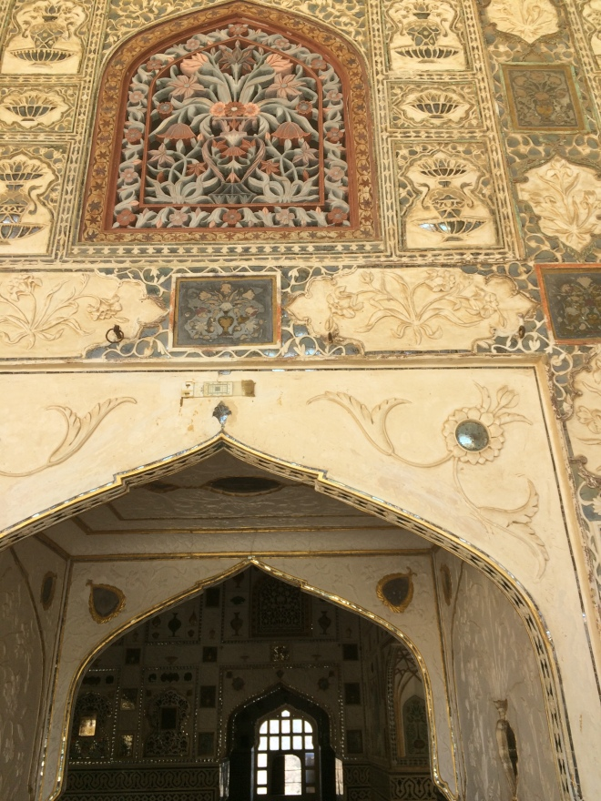 Intricate wall carvings