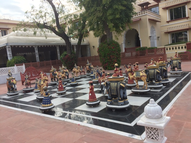 Life size fancy Chess board
